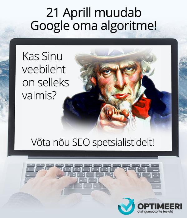 Google Algoritm 21 aprill